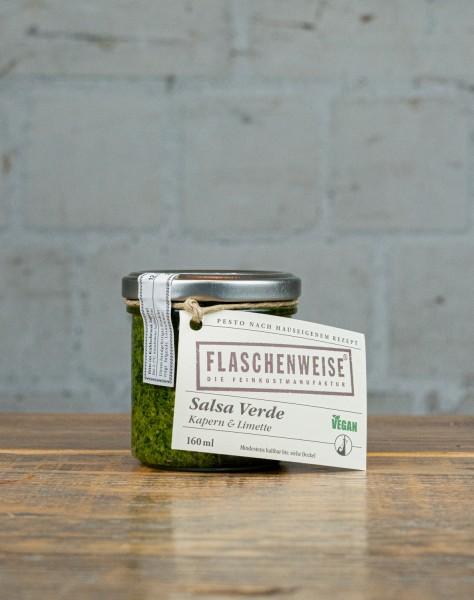 Flaschenweise Salsa Verde - Pesto mit Kapern & Limette