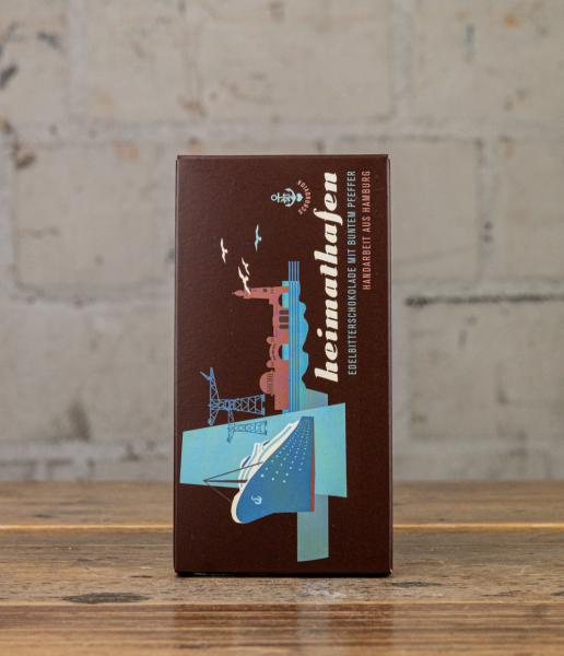 Schokovida Heimathafen Edelbitterschokolade mit buntem Pfeffer