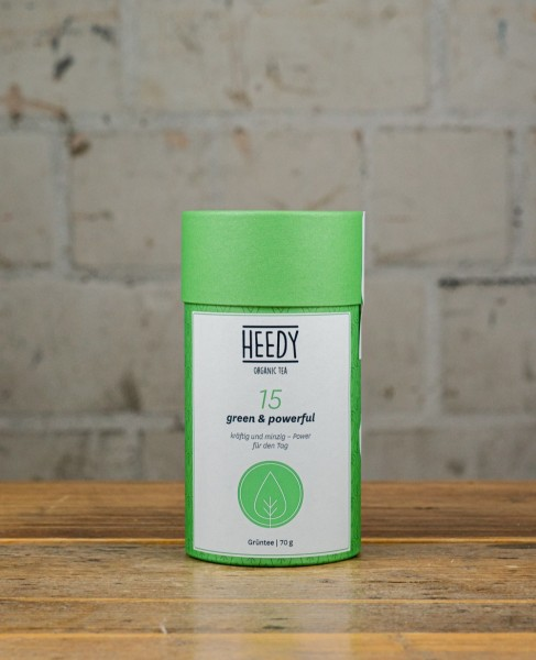 HEEDY No 15 green & powerful - Grüntee
