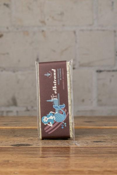 Schokovida Elbstrand lütt Weisse Schokolade mit Blaumohn