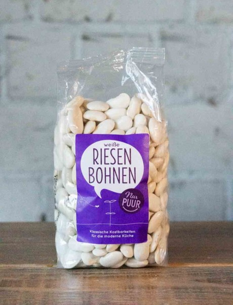 nur puur Bio Weiße Riesenbohnen