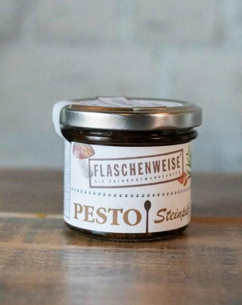 Flaschenweise Pesto Steinpilz mit Mandeln & Rosmarin