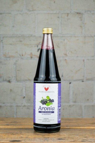 Aronia Ostetal Aronia Direktsaft aus eigenen Beeren