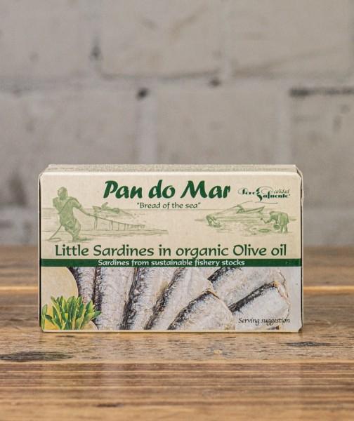 Kleine Sardinen in Bio- Olivenöl 90g