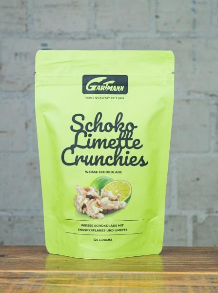 Gartmann Schoko Limette Crunchies Weisse Schokolade