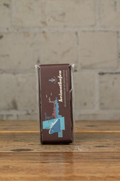 Schokovida Heimathafen lütt Edelbitterschokolade mit buntem Pfeffer