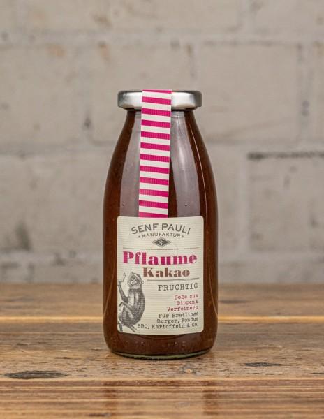Senf Pauli Soße Pflaume Kakao, fruchtig -