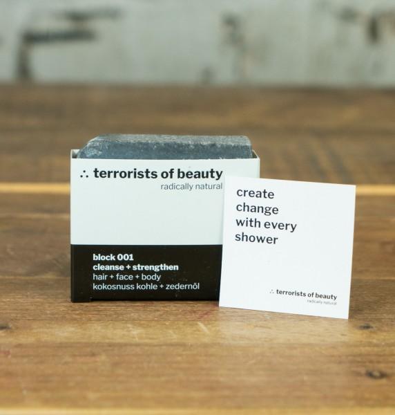 Terrorists Of Beauty Blockseife 001 cleanse + strengthen