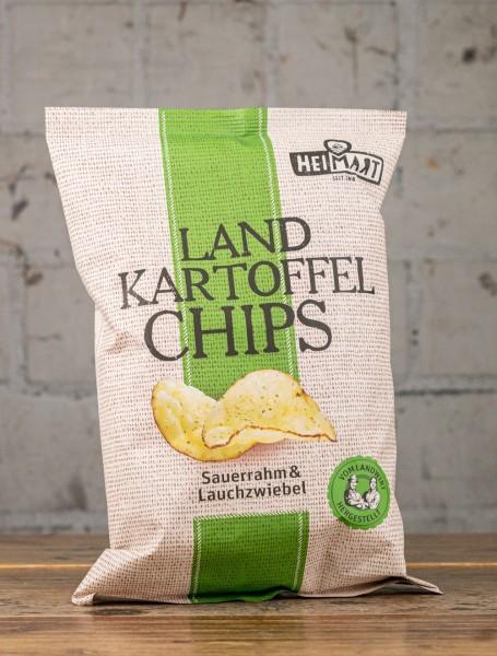 HEIMART Landkartoffel Chips Sauerrahm & Lauchzwiebel