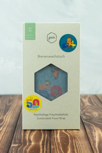 gaia Bio Bienenwachstücher (M/L) Die Maus 2er Set