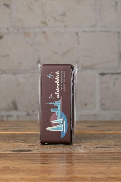 Schokovida Alsterblick lütt Edelbitterschokolade