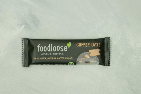 Foodloose Riegel Coffee Date